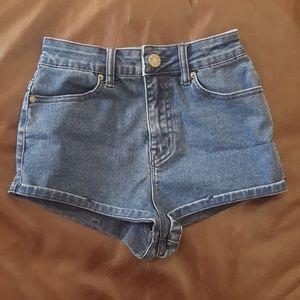 BDG High-Waist Denim Shorts